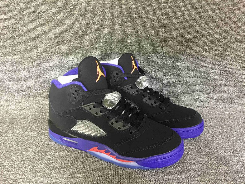 Cheap Jordan 5 Retro Raptors Black Ember Glow-Fierce Purple