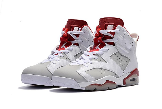 Cheap Jordan 6 Retro Alternate White Pure Platinum-Gym Red
