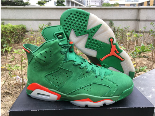 Cheap Jordan 6 Retro Gatorade Green Suede