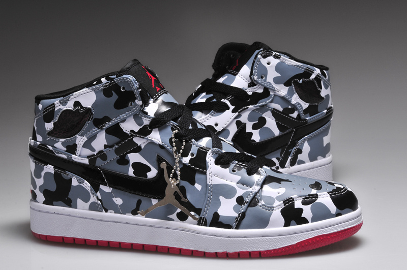 Air Jordan 1 Camouflage White Red Shoes
