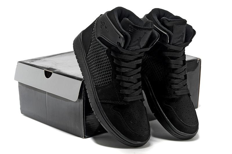 d798ffc08d2a0c Cheap New Jordan 1 Retro High All Black Shoes On Sale -  77.00