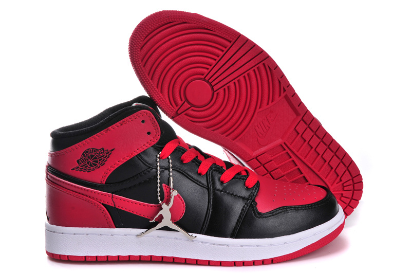 Air Jordan 1 Red Black White For Women