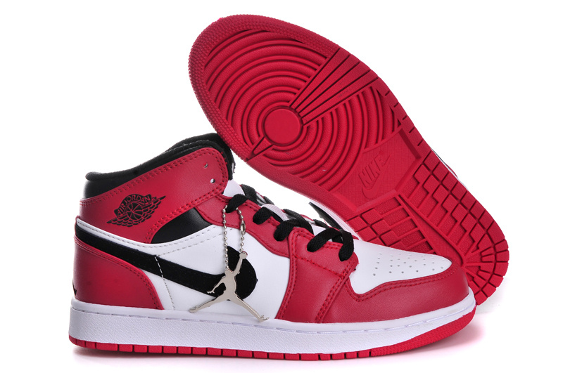 Air Jordan 1 Red White Black For Women