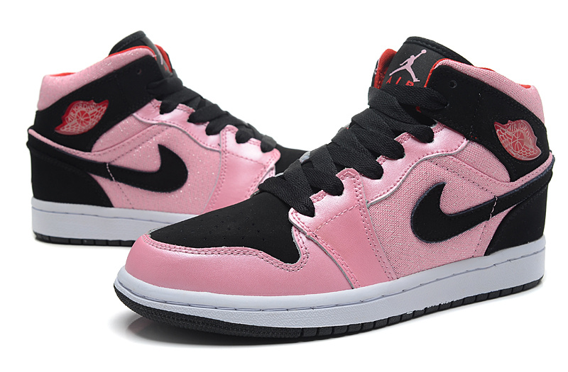 newest collection 877c6 307cf Air Jordan 1 Valentine 555112-608 Pink Black For Women