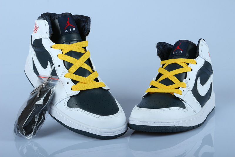 Air Jordan 1 White Black Yellow With Air Cushion
