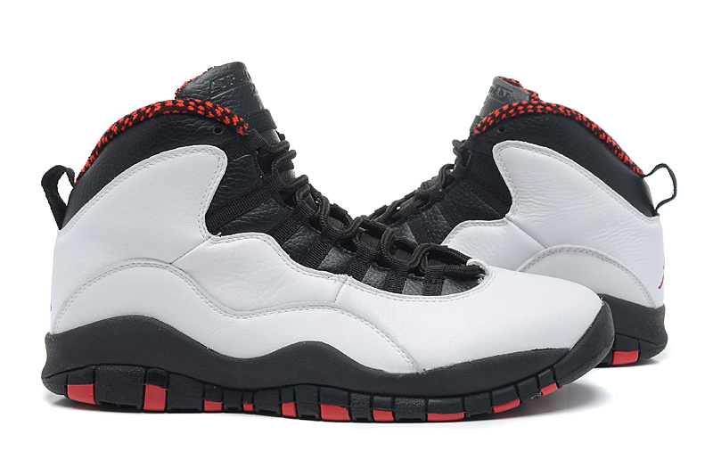 Air Jordan 10 Grey Black Red Shoes