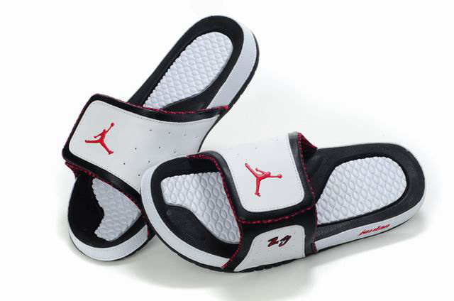 Air Jordan 10 Slipper White Black Red Logo