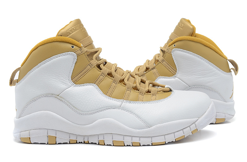 huge selection of 4649e 7efcf Air Jordan 10 White Yellow Shoes