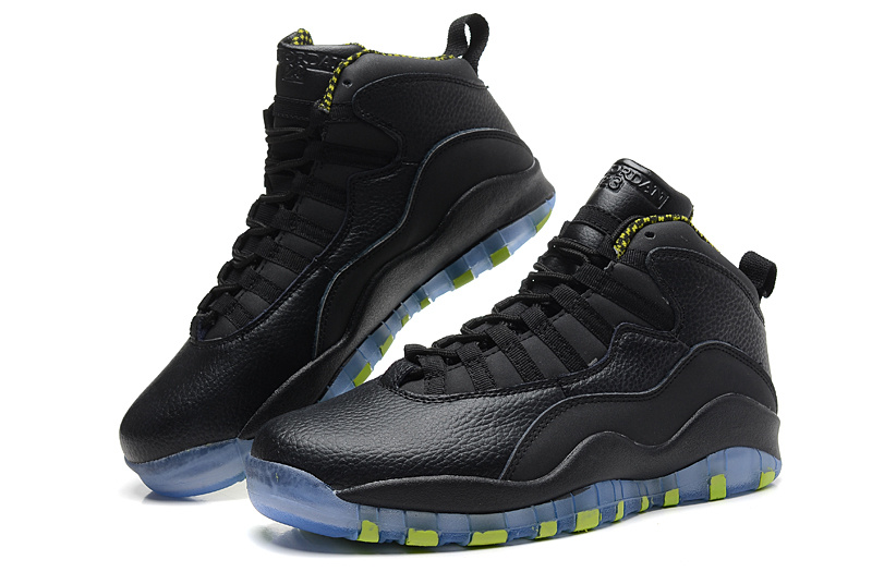 Air Jordan 10 X Retro Black Cool Grey Anthracite Venom Green Shoes