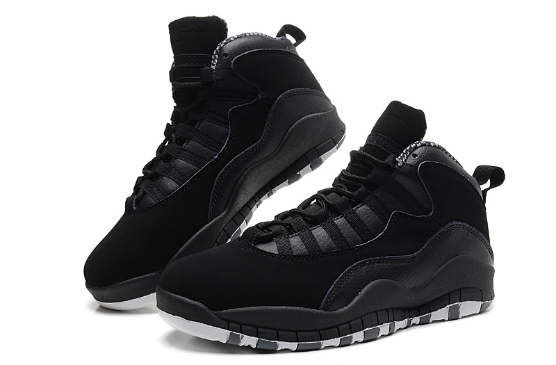 Air Jordan 10 X Retro Black White Stealth Shoes