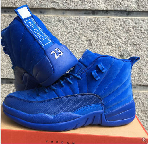 a3f7aeb6a0fff0 Air Jordan 12 Premium Deep Royal Blue Shoes  17NAJ296  -  77.00 ...