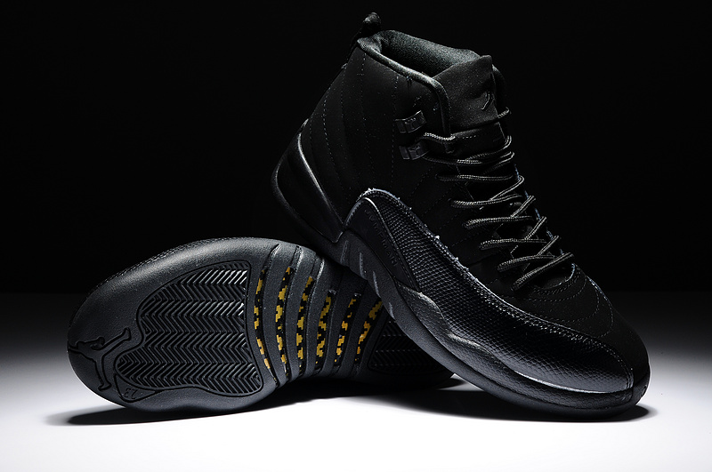 Air Jordan 12 Retro OVO All Black Shoes