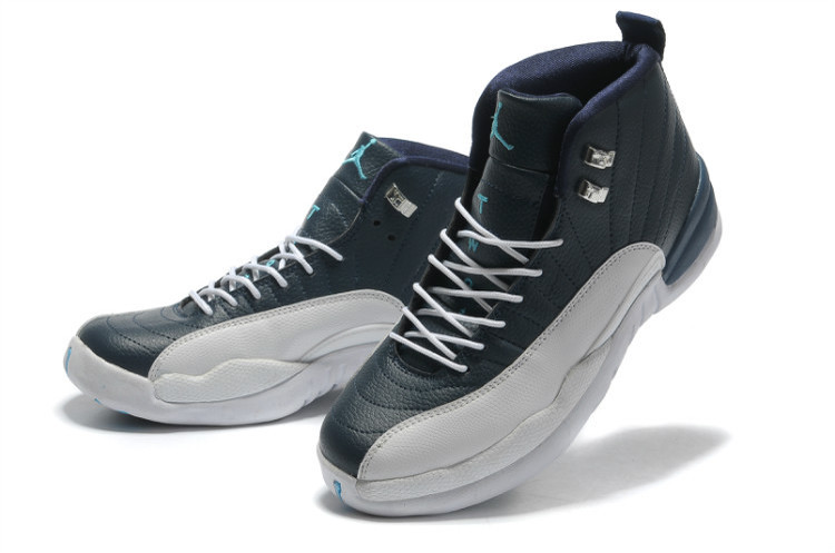 Air Jordan 12 Retro Obsidian White French Blue University Blue Shoes