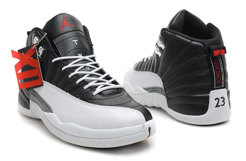 Air Jordan 12 Retro Playoffs Black Varsity Red White Shoes
