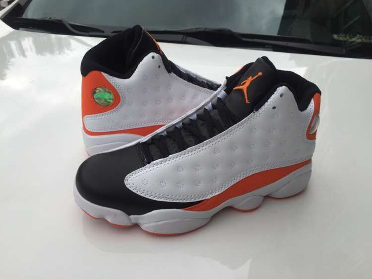 Air Jordan 13 Broken Shattered Backboard Black Orange Shoes