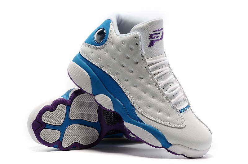 Air Jordan 13 CP3 Home PE White Sunstone Orion Blue Shoes