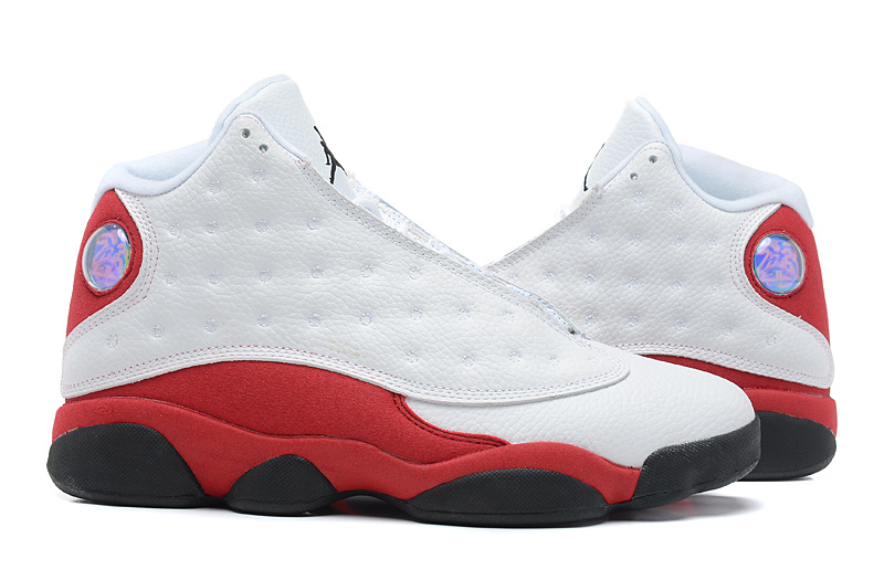 Air Jordan 13 Retro Mens White Black Varsity Red Shoes