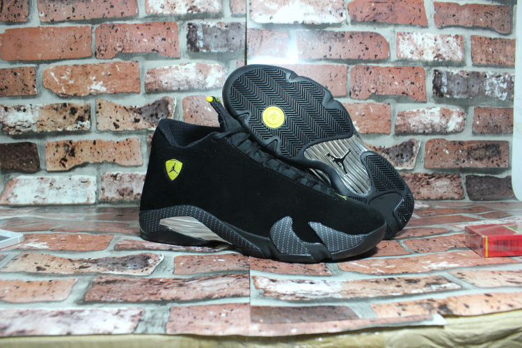 2015 Cheap Real Air Jordan 14 OG Black Ferrari Shoes