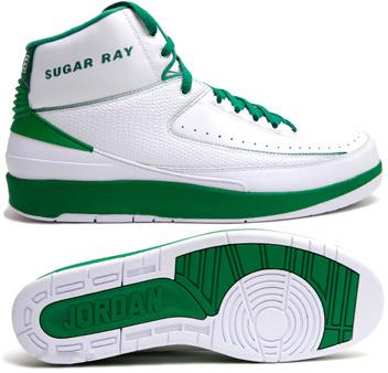 Cheap Air Jordan Retro II White Green Chrome
