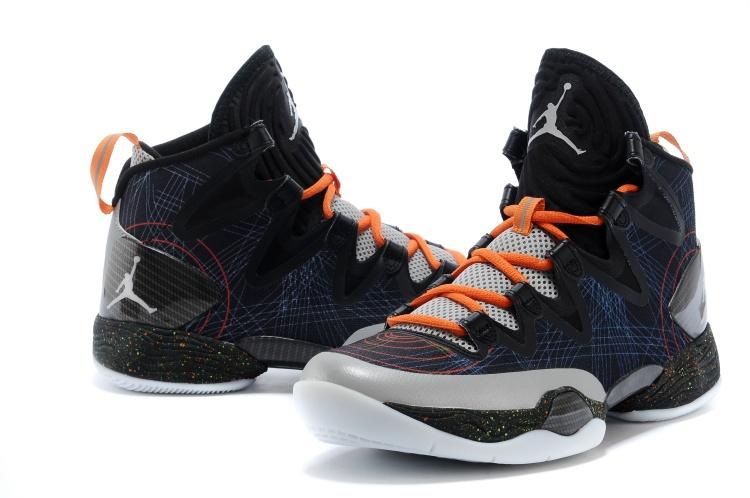 b519539d57ca91 Air Jordan 28 SE Grey Black Grey Orange Shoes  NEWEST083  -  95.00 ...