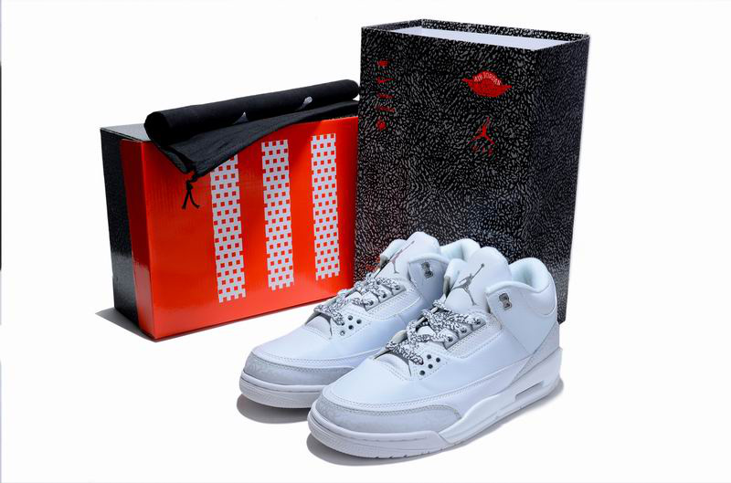 Limited Air Jordan 3 All White with Hardback Package