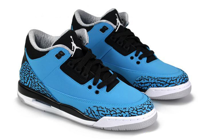 9685c318364d3 ... ireland air jordan 3 retro dark powder blue white black wolf grey shoes  3ea97 329df