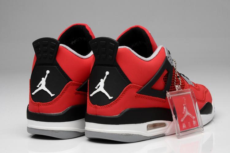 2013 Original Jordan 4 Bulls Colors Red White Black Shoes