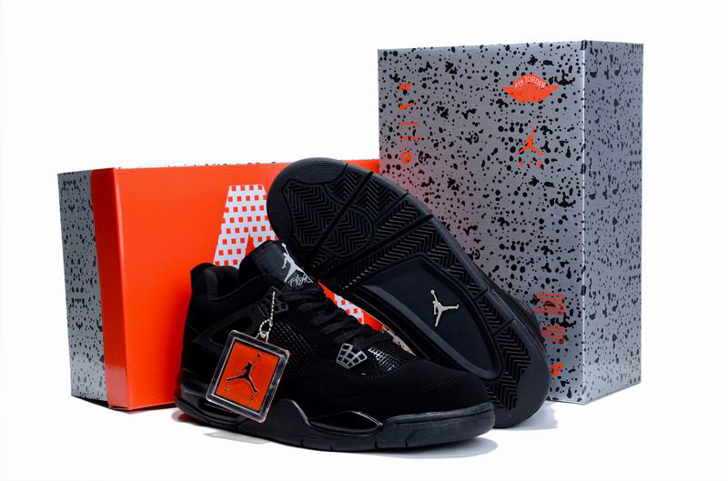 Limited Air Jordan 4 All Black with Hardback Package