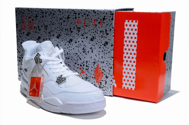 Nice Air Jordan 4 All White with Hardback Package