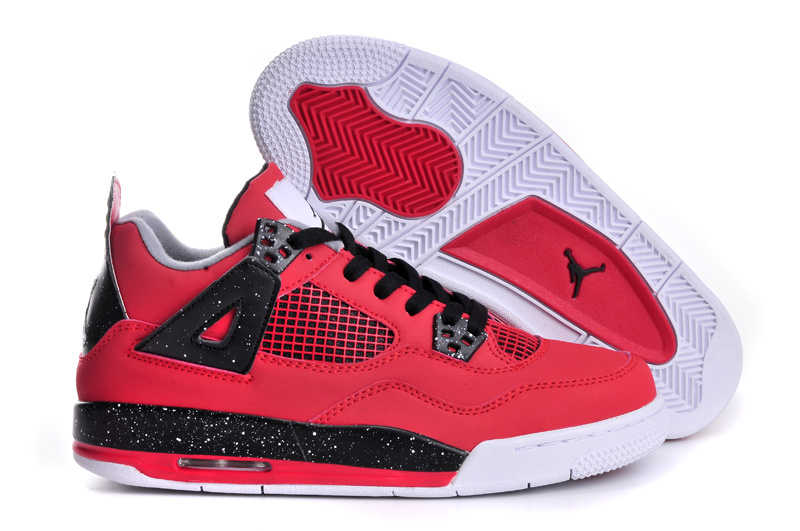 Air Jordan 4 Red Black White For Women