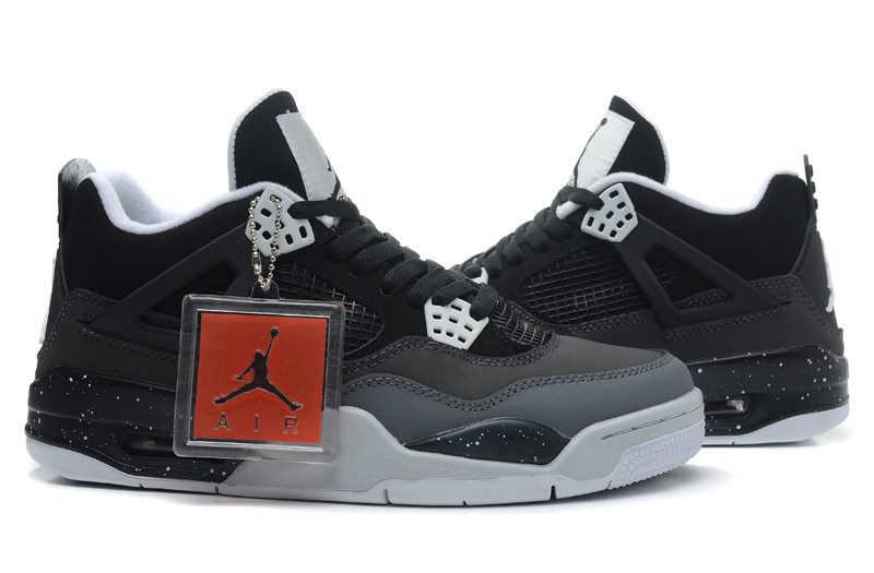 Air Jordan 4 Retro Fear Black White Cool Grey Pure Platinum Shoes