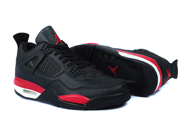 Air Jordan 4 Temporal Rift by Color Black Red Shoes