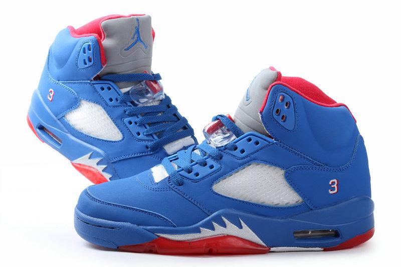 reputable site 60e20 4a4b0 2013 Jordan 5 Retro All Blue Red Shoes - $78.00