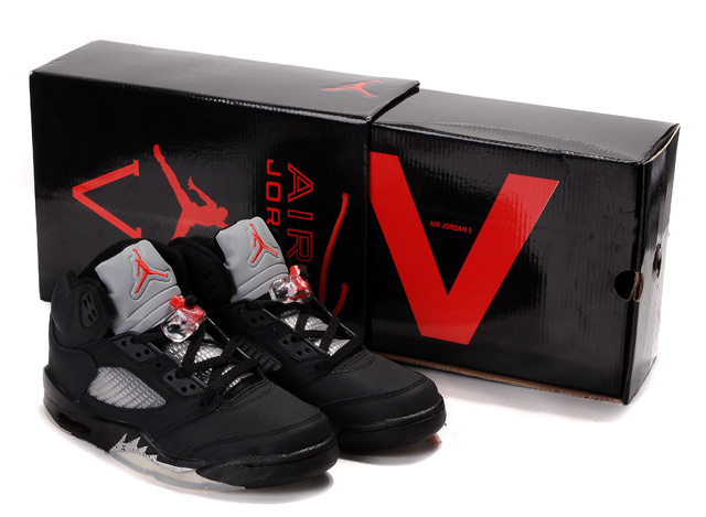 Limited Air Jordan 5 Retro Hardback Box Black White Red