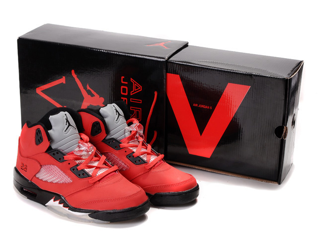 Limited Air Jordan 5 Retro Hardback Box Red Black White