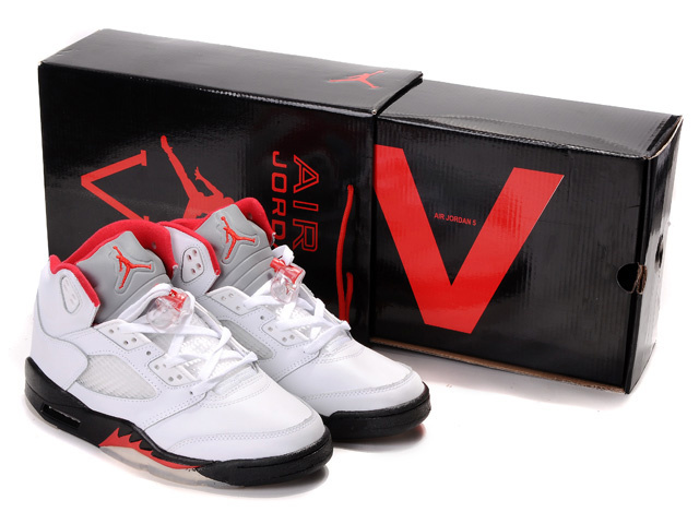 Limited Air Jordan 5 Retro Hardback Box White Black Red