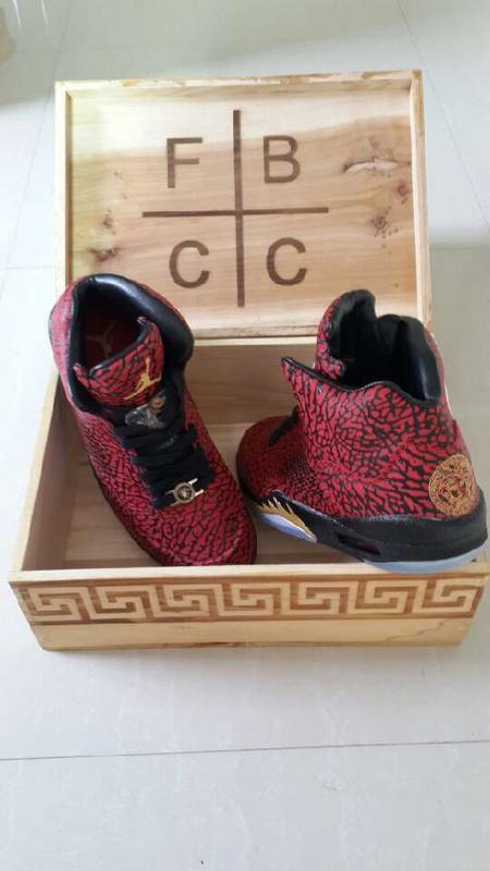Versace Jordans Order Air Jordan 5 Versace Red Black