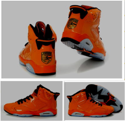 Limited Air Jordan VI Porsche Edition Orange Grey