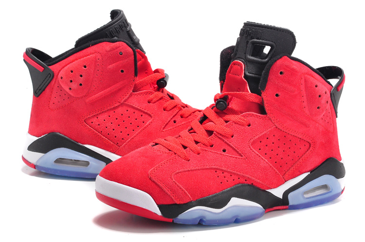 Cheap Real 2015 Air Jordan 6 Suede Red Black White