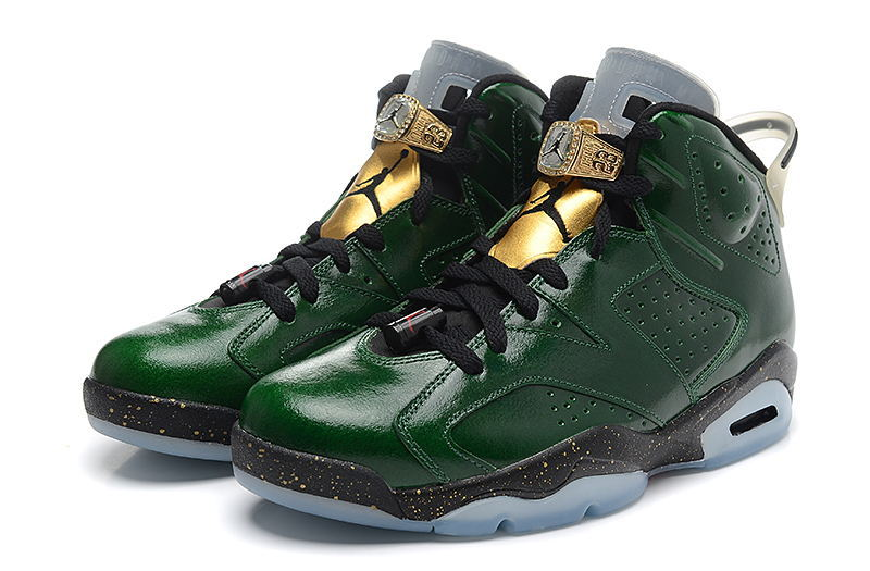 Air Jordan 6 VI Retro Champagne Bottle Pro Green Metallic Gold Chilling Red Black Shoes