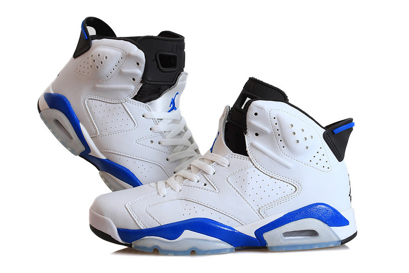 Air Jordan 6 VI Retro White Sport Blue Black Shoes