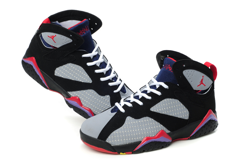 the best attitude 8a84e 3c3e7 ... real women s air jordan 7 embroided grey black red ...
