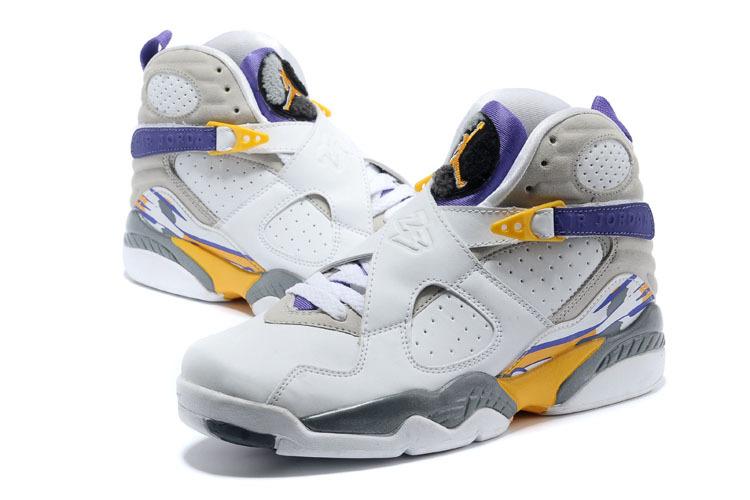 a09286bc0e7 Air Jordan 8 Retro Kobe Bryant Lakers Home PE Shoes  17NAJ160 ...