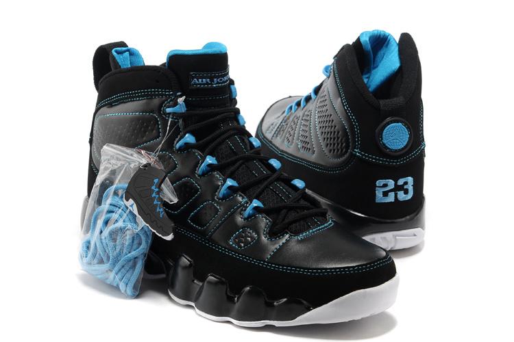 38508946f0ccc8 Air Jordan 9 Retro Black Photo Blue White Shoes