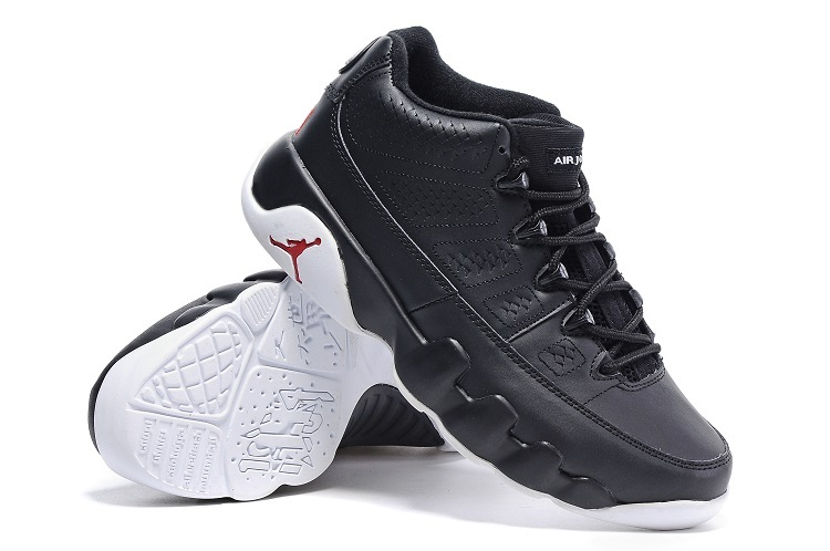 detailing f3595 4e31c ... air jordan 9 retro low chicago black white gym red shoes ...