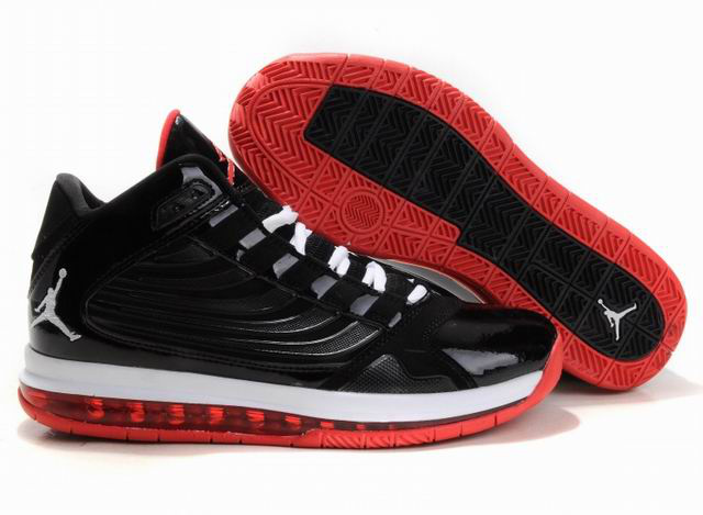 Air Jordan Big Ups Black White Red Shoes