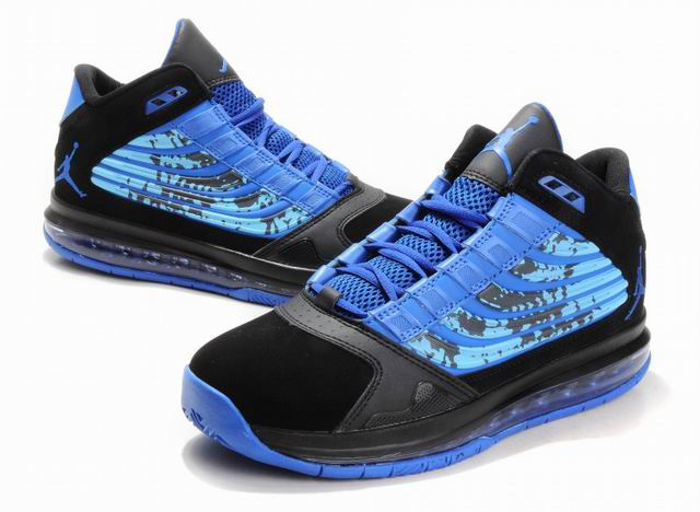 Air Jordan Big Ups Blue Black Shoes