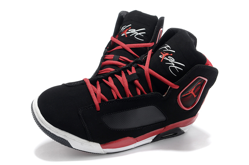 2013 Sportive Jordan Flight Luminary Black Red White Shoes