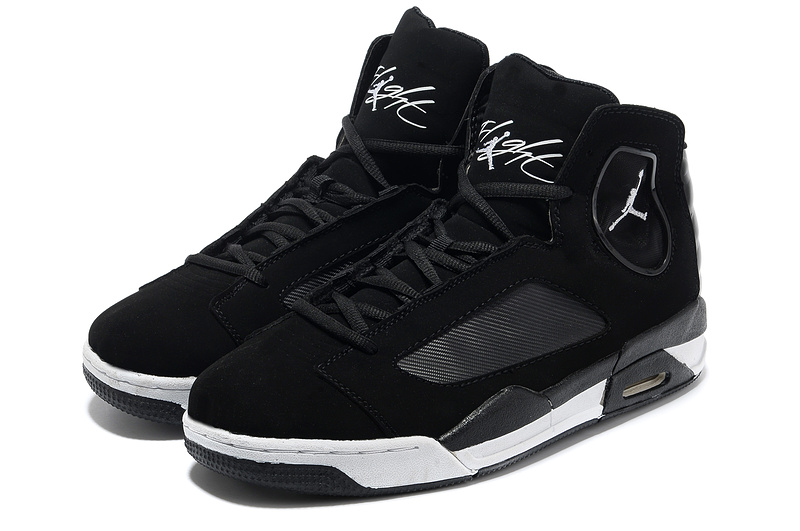 2013 Sportive Jordan Flight Luminary Black White Shoes