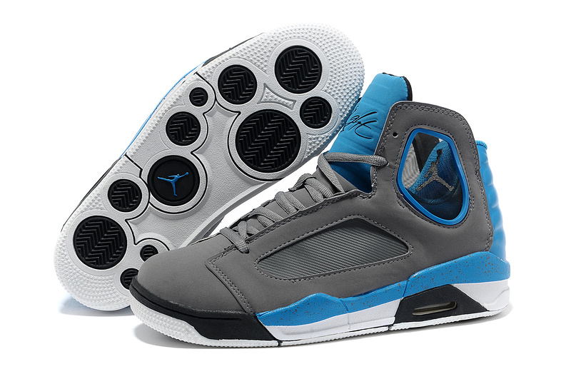 2013 Sportive Jordan Flight Luminary Grey Blue Shoes
